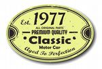 Distressed Aged Established 1977 Aged To Perfection Oval Design For Classic Car External Vinyl Car Sticker 120x80mm